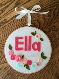 FELT NAME with FLOWERS