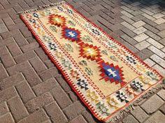 """Kilim runner, 29"""" x 63"""" inc, kilim runner, Vintage Turkish kilim runner rug, short runner, runner rug, hallway runner rug, bohemian runner"""