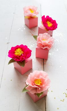 "I have made so many paper flowers through the years, but my favorite is a quick and dirty version I call my ""5 Minute Peony."" This can actually translate to any flower. I usually just do a search for"