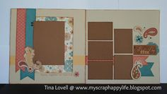My Scrap Happy Life: Clementine 2 pg layout - design from Make it From Your Heart book