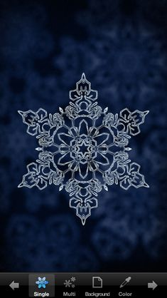 Snowflakes for iPhone app.