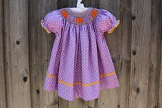Smocked Auctions Pumpkin Dress