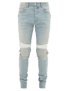 2019New Fashion Mens Distressed Ripped Biker Jeans Casual Trousers Slim Fit Motorcycle Biker Denim Fashion Designer Pants Hip Hop Mens Jeans