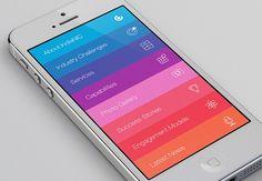 IndiaNIC App by Keyuri Bosmia has a lovely rainbow touch.