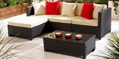 Mobiler din Ratan – Seturi Pentru Terasa si Gradina din Ratan Outdoor Sectional, Sectional Sofa, Outdoor Furniture Sets, Outdoor Decor, Home Decor, Houses, Modular Couch, Decoration Home, Room Decor