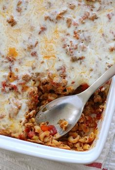 Simple macaroni casserole. This easy baked pasta dish is made with whole wheat elbows, ground turkey, veggies, marinara sauce and cheese.