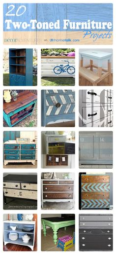 Two Color Painted Furniture Ideas - Decor diy inspiration Refurbished Furniture, Paint Furniture, Repurposed Furniture, Furniture Projects, Furniture Makeover, Home Projects, Modern Furniture, Do It Yourself Furniture, Do It Yourself Home