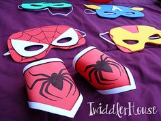 Superheroes - foam mask craft (Twiddler House)