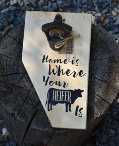 TGIF!  Time to pop the top off a cold one!  Or two...whatever.  I don't judge.  Just tell me what time to be over!      #coldones #popyourtop #homeiswhereyourheiferis #itsmagnetic #cowlove #rural #countrysoul #rustic #handcrafted #supportlocalbiz #shoplocal #yycmaker #maker #etsy #etsyyyc #etsycalgary #yyc #wheatland #okotoks #yeg #Albertamade #Albertamaker #madeinCanada #Canadiancreatives #woodworking #woodart #womenwithtools #womenwhowoodwork #buildbabe #HistorymeetHandmade