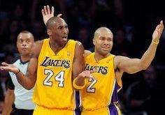 Kobe Bryant and Derek Fisher