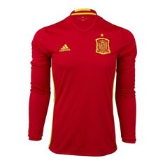 Adidas Spain Home Long Sleeve Jersey Men's Authentic Sports Unique Gift NEW!
