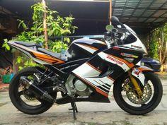 Modifikasi motor Yamaha Vixion 2008 full bodykit Ninja 250