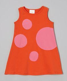 Another great find on #zulily! Orange & Pink Mod Swing Dress - Toddler & Girls by Buckleberry Kids #zulilyfinds