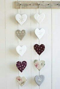 DIY & crafts projects, contents and more - Diy Crafts Diy Crafts 647322146412833649 P Diy Clay, Clay Crafts, Home Crafts, Diy And Crafts, Arts And Crafts, Heart Garland, Clay Ornaments, Heart Crafts, Heart Wall