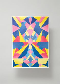 Geometrial Poster Art Print large art print by LAUXGALLERY on Etsy