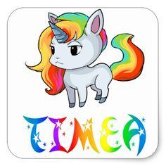 Timea Unicorn Sticker - craft supplies diy custom design supply special