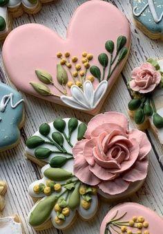 Mother's Day Cookies, Crazy Cookies, Fancy Cookies, Valentine Cookies, Iced Cookies, Cute Cookies, Easter Cookies, Cookies Et Biscuits, Valentines