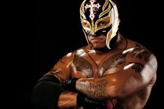This is Rey Mysterio, Jr. He started in WWE and made a move called the 619 and is still a famous move.