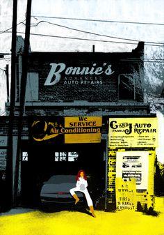 Bonnie's Advanced Auto Repairs - llustration by Oriol Vidal