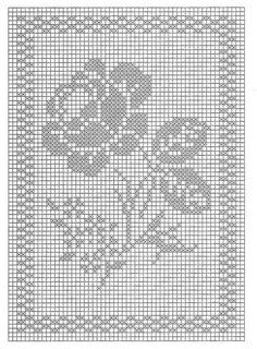 Filet Crochet Charts, Crochet Diagram, Crochet Stitches, Crochet Granny, Crochet Doilies, Crochet Lace, Cross Stitching, Cross Stitch Embroidery, Knitting Patterns