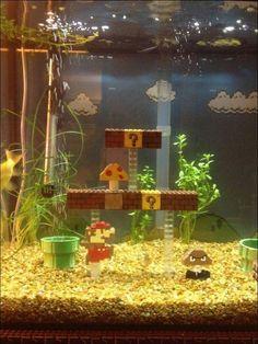 Aquarium-With-Super-Mario-Toys4