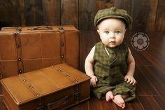 Vintage Style Boys Photo Prop Suit