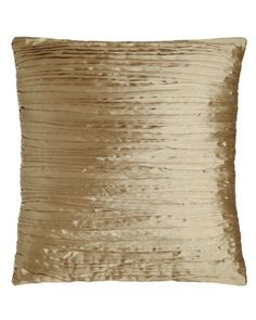 """Pleated Pillow, 18""""Sq."""