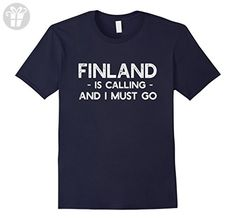 Mens Finland Is Calling And I Must Go - Funny Country T-shirt Small Navy - Funny shirts (*Amazon Partner-Link)