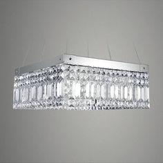 pendente de cristal quadrado lustre sala luminária quarto