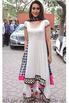 karishma kapoor White Salwar Suit - Jomso