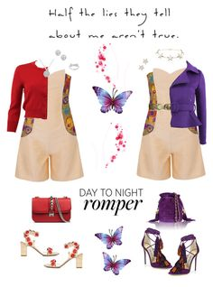 """""""contest entry:  day to night romper.."""" by queenchelleisboomkoo on Polyvore featuring Funlayo Deri, Oscar de la Renta, Kobelli, Givenchy, Tabitha Simmons, Jimmy Choo, Valentino, Chanel, Lauren Ralph Lauren and DayToNight"""