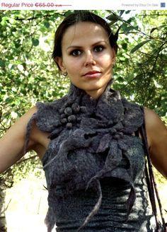 ON SALE Felt scarf Felted scarf Felted wool scarf Felt shawl Felted shawl OOAK