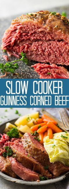 easy one pot meals This Slow Cooker Guinness Corned Beef is an easy one pot meal make in the crockpot! The Guinness and a touch of brown sugar make the dish extra special! Slow Cooking, Cooking Corned Beef, Slow Cooker Corned Beef, Corned Beef Recipes, Crock Pot Slow Cooker, Steak Recipes, Cooker Recipes, Crockpot Recipes, Crock Pots
