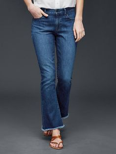 I like the length of the jeans for summer, the cut, the frayed edges, and the color. I can't really wear mid-rise jeans though, low rise is better.