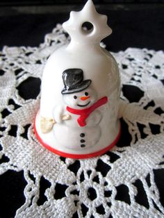 Goebel Snowman Bell Ornament  Christmas by JewelsOfHighElegance, $8.75