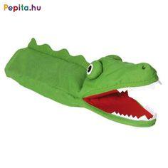 Minden gyerkőc szereti a meséket, hiszen hallgatása közben egy saját kis tündérországot kreálhat magának és nem egy készen kapott világba kell belecsöppennie. Játszd el gyermekednek kedvenc meséidet vagy legyen részese ő is a kalandnak ezzel a rémes kroki bábjátékkal. Ez az óriás fogú krokodil figura biztosan elnyeri apróságod figyelmét és ő is kedvet kap majd a bábozáshoz.    Jellemzői:   - Kézbáb  - Anyaga: Plüss  - Mérete: 39 cm  - 3 éves kortól Marionette, Baby Couture, Clowns, Keds, Ebay, Watermelon, Products, Kids Hands, Sew Simple