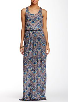 Printed Racerback Maxi Dress by Lush on @nordstrom_rack-added this to my summer collection today!