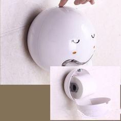 Waterproof Cute Emoji Tissue Box Holder Colorful Ball Plastic Bathroom Roll Tissue Holder - Newchic Mobile