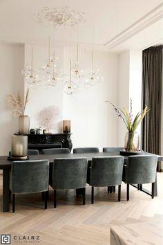 Enkhuizen Home Room Design, Dining Room Design, Esstisch Design, Modern Interior, Interior Design, Dining Room Inspiration, Küchen Design, Home Living Room, Decorating Your Home