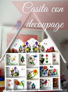 Una casita con Decoupage