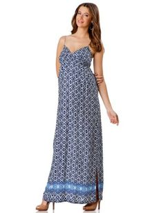 A Pea in the Pod: Eight Sixty Sleeveless Smocked Maternity Maxi Dress $129.50