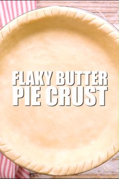 Pie recipes 509610514083434066 - Flaky Butter Pie Crust – This is my favorite pie crust! I've been making it for years and it always turns out great! Whip up some pie crust cookies with your scraps so nothing goes to waste! Easy Pie Crust, Homemade Pie Crusts, Pie Crust Recipes, Apple Pie Recipes, Pie Dough Recipe Easy, Pie Crust Recipe Video, Pecan Pie Crust Recipe, Quiche Crust Recipe, Pie Pastry Recipe