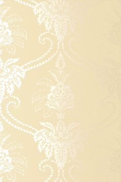 Anna French Wallpaper and Fabric - Wild Flora - Damask - Cream / Mica