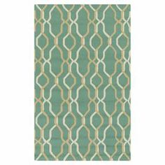 Hand-hooked indoor/outdoor rug with a trellis motif.   Product: RugConstruction Material: PolypropyleneColor: Neutral and greenFeatures:  Hand-hookedSuitable for indoor and outdoor use Note: Please be aware that actual colors may vary from those shown on your screen. Accent rugs may also not show the entire pattern that the corresponding area rugs have.Cleaning and Care: Vacuum regularly with non-beater attachment. Blot stains immediately Test cleaning products in discreet area. Dry clean.