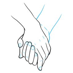 How to Draw Holding Hands: Step 9 easy drawings How to Draw Holding Hands - Really Easy Drawing Tutorial Hands Reference Drawing, Drawing Hands, Hand Reference, Drawing Poses, Design Reference, Drawing Ideas, Easy Drawing Tutorial, Couple Drawings, Art Drawings Sketches