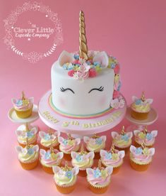 My first ever unicorn cake. I wonder who started off this craze? Tall vanilla sponge, with matching chocolate cupcakes with white chocolate buttercream. White Chocolate Buttercream, Chocolate Cupcakes, Unicorn Themed Birthday Party, Unicorn Party, 5th Birthday, Birthday Ideas, Cake Birthday, Unicorn Birthday Cakes, Unicorn Themed Cake