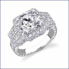 Gregorio 18K WG Diamond Engagement Ring R-2419