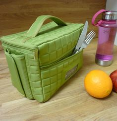 Freight Box Lunch Cube by Lug--very cool! Lots and lots of colors to choose from. $29