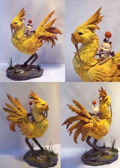 "squirtleisthebest: "" Fan made Chocobo sculpture (polymer clay) SOURCE "" The Effective Pictures We Offer You About Polymer Clay Crafts cake A quality picture can tell you many things. You can find the Polymer Clay Sculptures, Polymer Clay Crafts, Sculpture Clay, Pottery Sculpture, Bjd, Final Fantasy Art, Art Drawings For Kids, Clay Figures, Clay Videos"