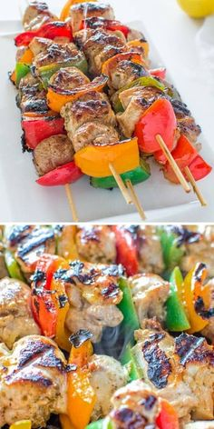 Very tender and so flavorful, these Easy Chicken Kebabs are MUST TRY this summer! This is my go-to kebab recipe. FOLLOW Cooktoria for more deliciousness! If you try my recipes - share photos with me, I ALWAYS check!  #chicken #kebab #grilling #keto #cooktoria Kebab Recipes, Grilling Recipes, Low Carb Dinner Recipes, Healthy Recipes, Healthy Food, Chicken Kebab, Food Crush, Best Chicken Recipes, Yum Yum Chicken